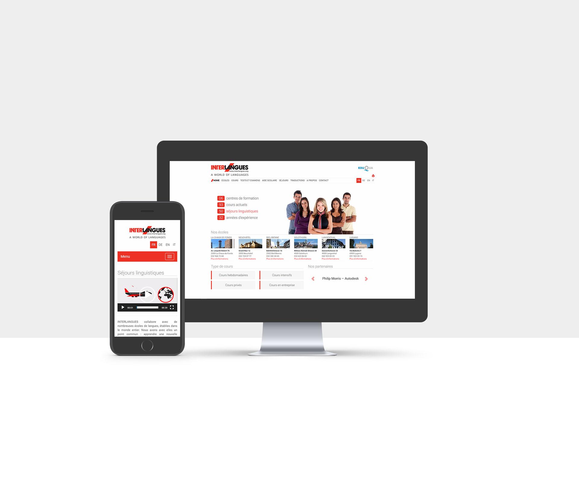 Site Internet d'Interlangues