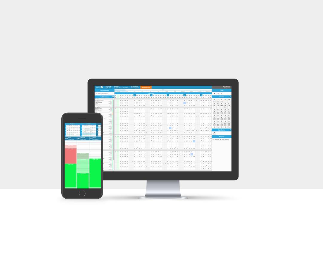 Application de gestion du temps Oasis System